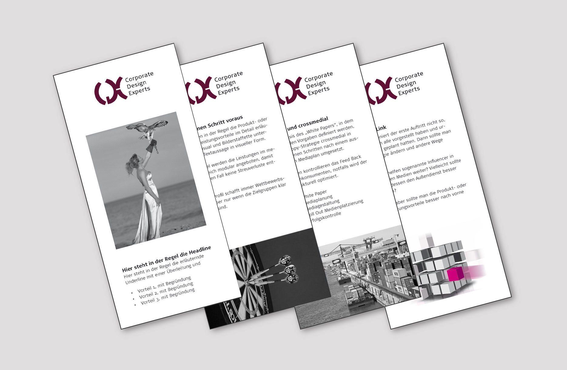 Print-Design des Imagefolders