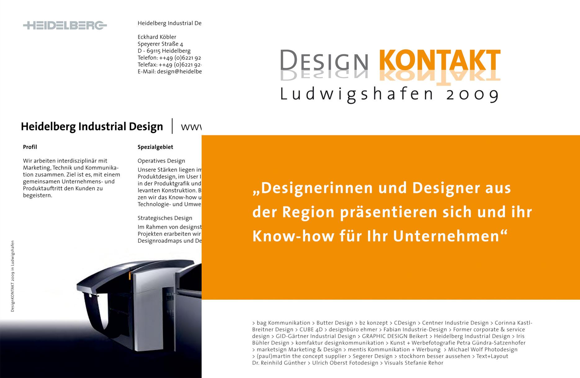 Kampagne für den Designkontakt Ludwigshafen
